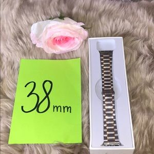 Other - Apple Watch Silver & Gold Stainless Steel Strap
